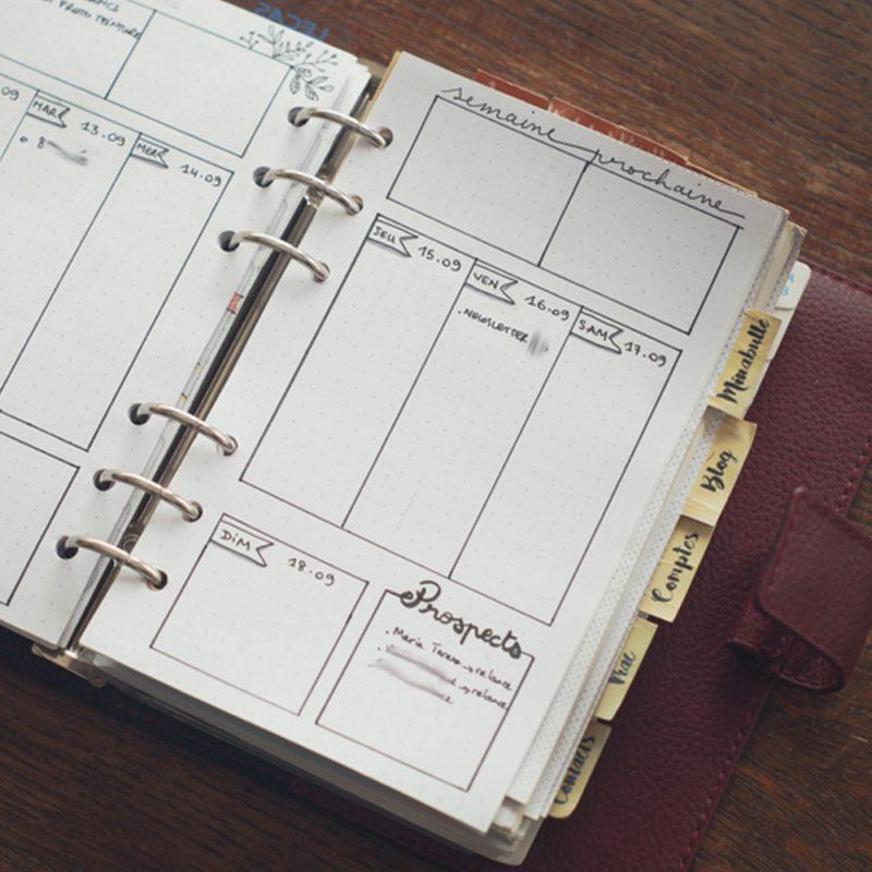 entreprendre un bullet journal