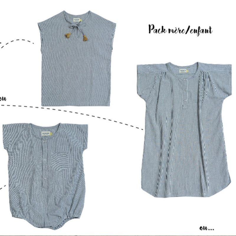Look mères enfant, comment associer la robe Marcelline et les vêtements enfants Minabulle?