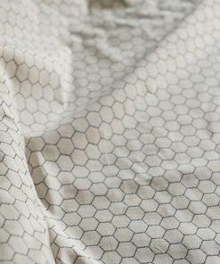 Coton biologique dessin nid d'abeille