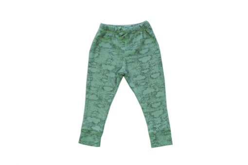 pantalon alban vert motif nuage