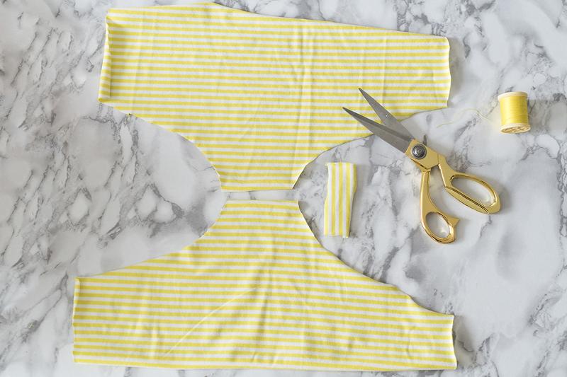 DIY Recyclage : Transformer un tee-shirt en culotte par Minabulle tuto femme enfant