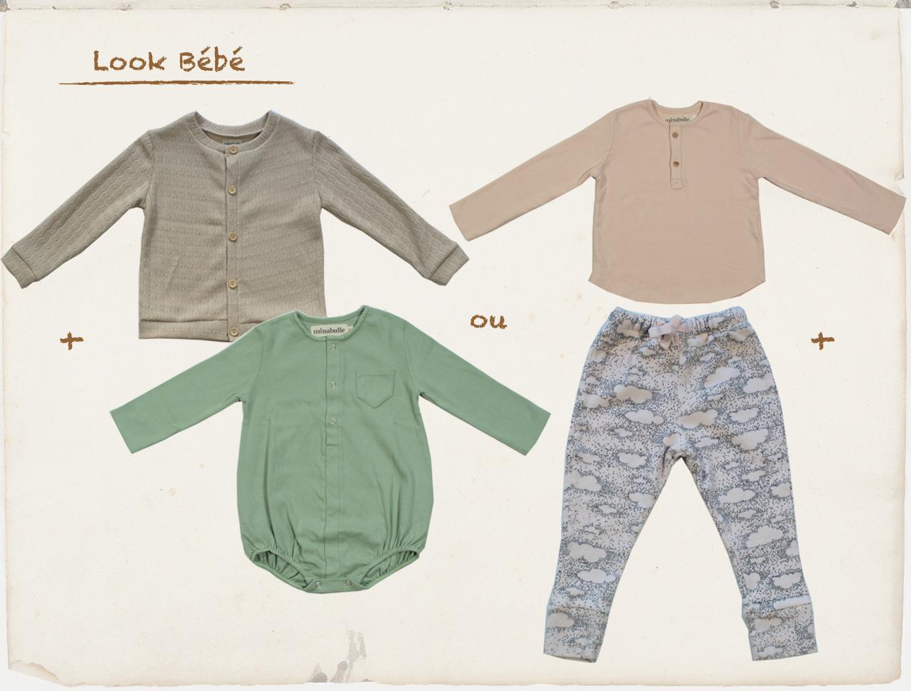 tenue bébés octobre 2018 minabulle collection Daydream vêtements enfants