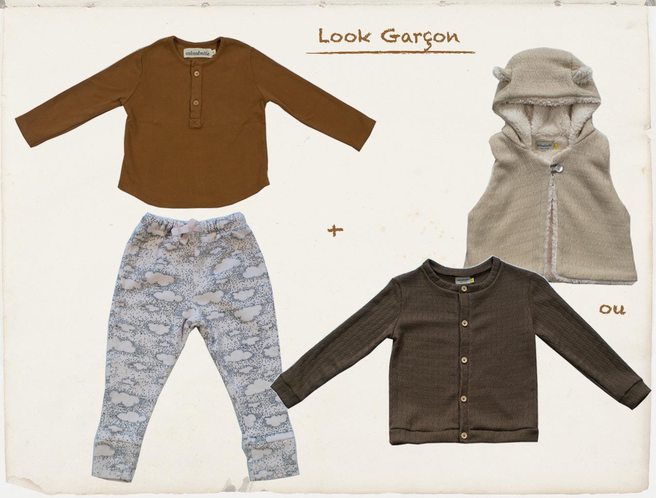 tenue garçons rentrée septembre 2018 minabulle collection Daydream vêtements enfants