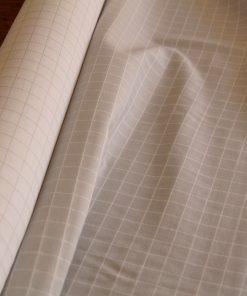 Gaze de coton biologique à carreaux