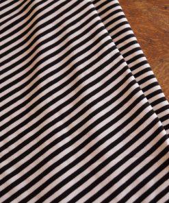 tissu rayé blanc et noir