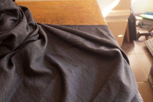 tissu gris chiné