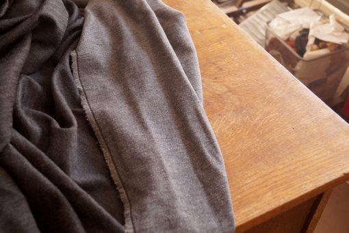 tissu gris chevrons