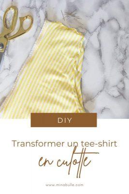 transformer tee-shirt en culotte