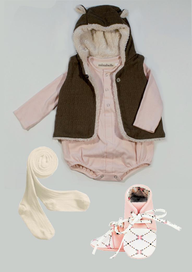 tenue bébé Minabulle collants collégien et chaussures miniyou
