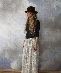jupe Margot motif nuage