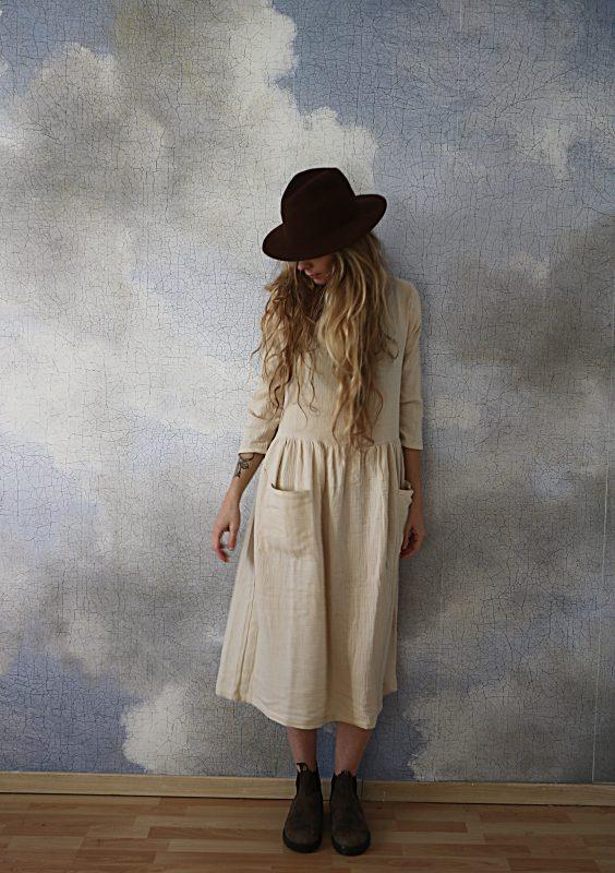 robe marcelline écrue