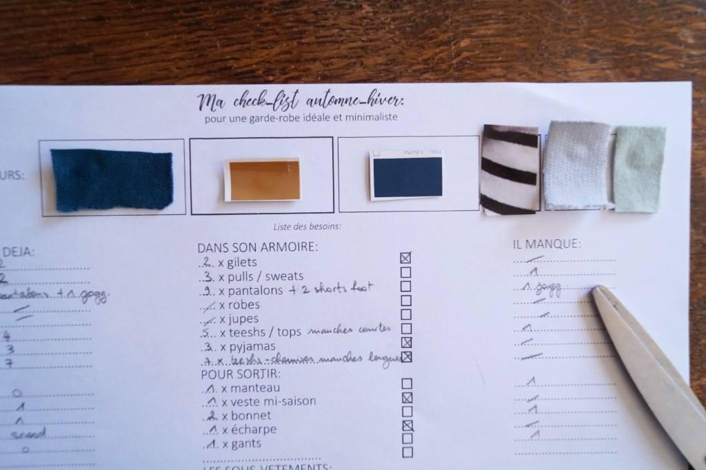 liste garde robe minimaliste