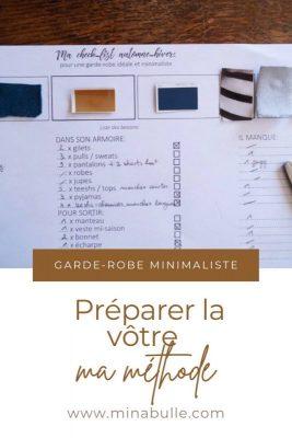 preparer garde robe minimaliste