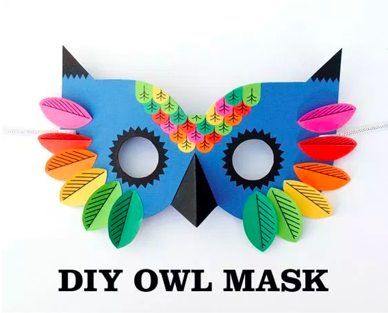 masque chouette créamalice Mardi Gras