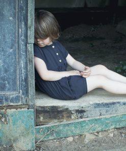 robe loose enfant Minabulle en jersey de coton bio anthracite