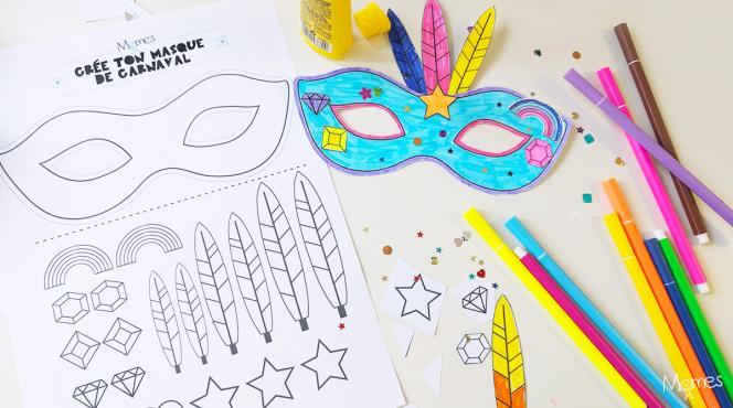 Momes.net kit masque carnaval mardi gras
