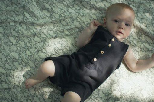 combishort Minabulle en jersey de coton bio anthracite