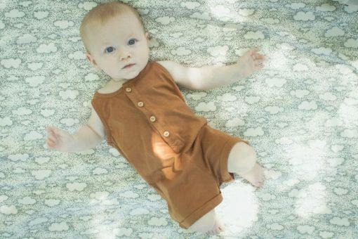 combishort Minabulle en jersey de coton bio cannelle