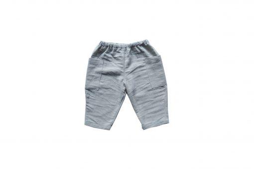 pantalon enfant Minabulle en crêpe de coton gris