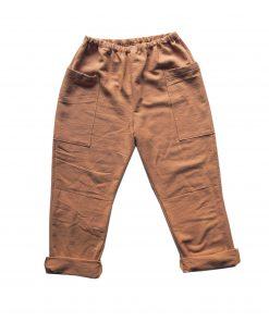pantalon enfant Minabulle en crêpe de coton cannelle