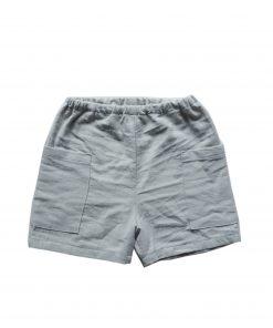 short enfant Minabulle en crêpe de coton gris
