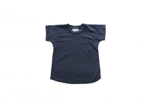 t-shirt Minabulle loose pour enfant, en jersey de coton bio anthracite