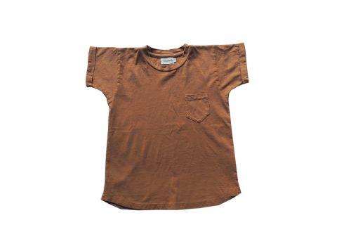 t-shirt Minabulle loose pour enfant, en jersey de coton bio cannelle