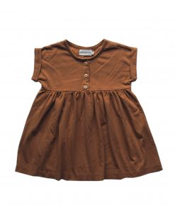 robe loose Minabulle, en jersey de coton bio cannelle