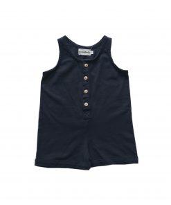 combishort Minabulle pour bébé en jersey de coton bio anthracite