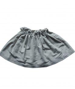 jupe Minabulle froncée à la ceinture en crête de coton gris