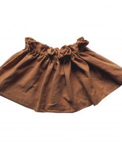 jupe Minabulle froncée à la ceinture en crête de coton cannelle