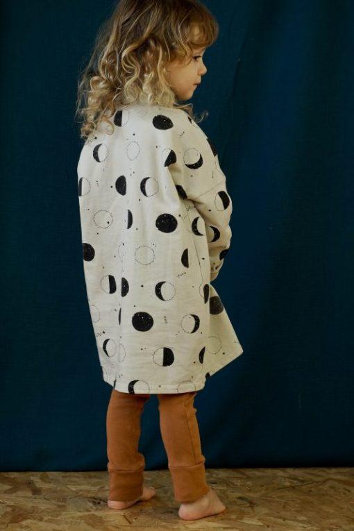 Legging cannelle et robe sweat imprimé lunes