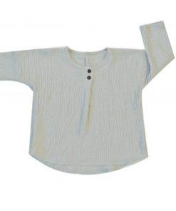 blouse mixte en double-gaze de coton biologique