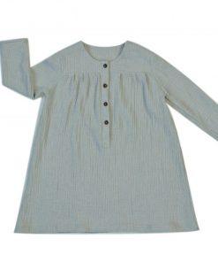 robe enfant grise en double-gaze de coton biologique