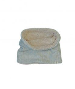 snood tricot gris