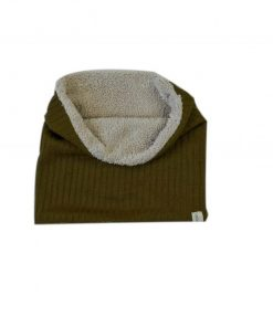 snood enfant tricot bronze