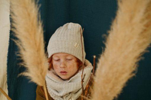 bonnet loose gris enfant et snood