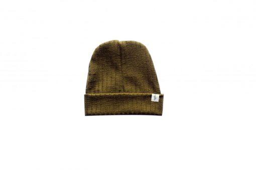 bonnet loose enfant tricot bronze