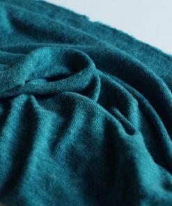 maille tricot bleu canard