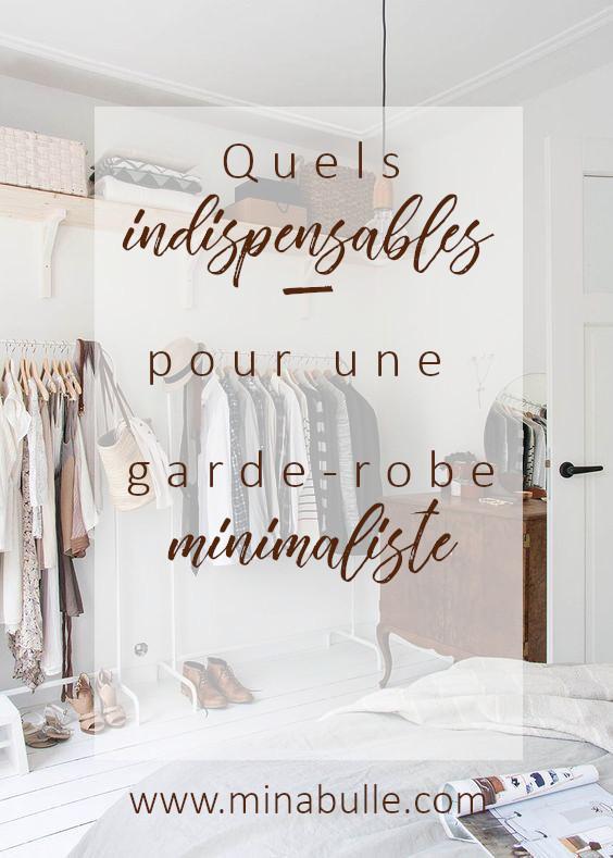 indispensables pour une garde-robe minimaliste