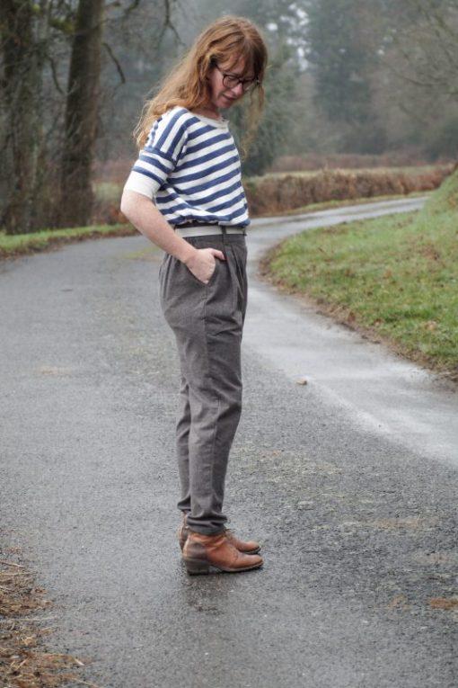 pantalon oscar gris