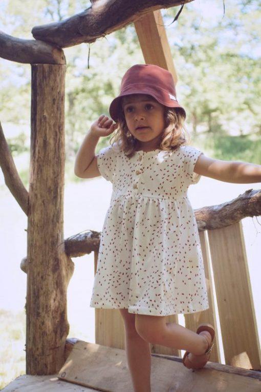 robe Minabulle enfant imprimé pépins en coton biologique