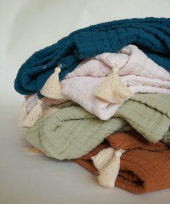 couvertures gaze de coton bio 10 épaisseurs Minabulle