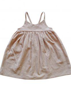 robe Adèle fines bretelles sable Minabulle
