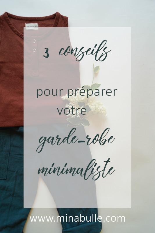3 conseils pour préparer sa garde-robe minimaliste