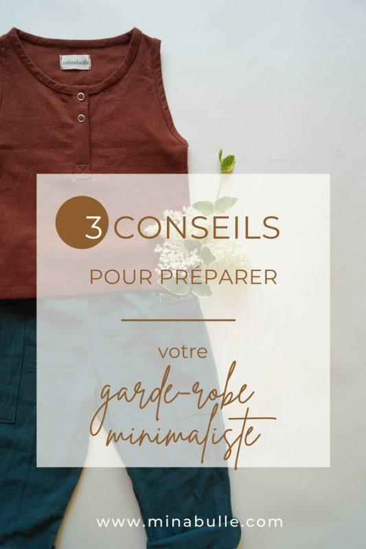 conseils pour préparer sa garde-robe minimaliste