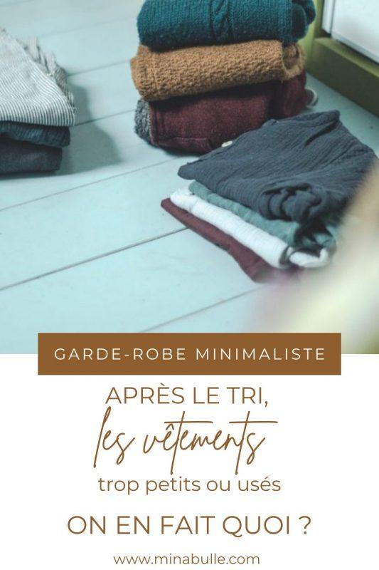 garde-robe minimaliste tri enfant
