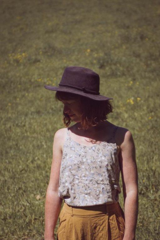 débardeur femme fines bretelles viscose imprimé fleurs