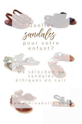 sandales en cuir pour enfant
