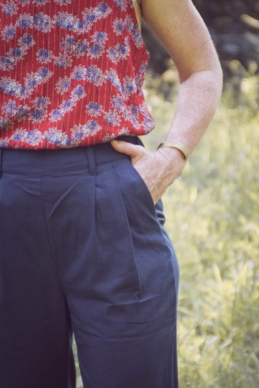 pantalon carotte marine